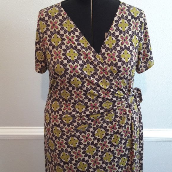 Cato Dresses | Plus Size Floral Print Wrap Dress Size 18w | Poshmark